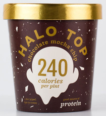 Halo Top Creamery - Chocolate Mocha Chip Ice Cream - 1 Pint - Healthy!
