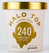 Halo Top Creamery - Vanilla Bean Ice Cream - 1 Pint - Healthy!