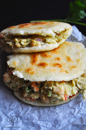 AVOCADO and CHICKPEA AREPAS
