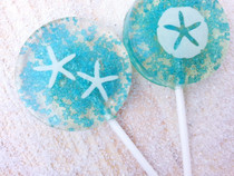 Beach Wedding Sparkle Lollipops - Six Included, many flavors