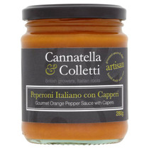 Sweet Orange Pepper Sauce with Capers - Cannatella & Colletti