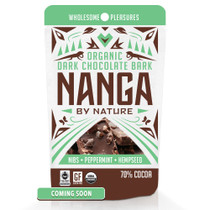 Nibs Peppermint Hemp Seed Organic Dark Chocolate Bark / 12 Pack