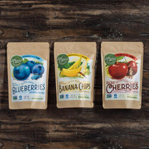 ORGANIC FRUITPACK  BLUEBERRIES/BANANAS/CHERRIES