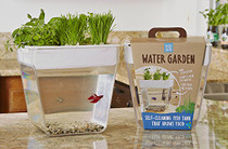 Water Garden 2.0 - Back to the Roots - self watering fish tank
