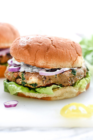 Food Network Greek Turkey Burgers