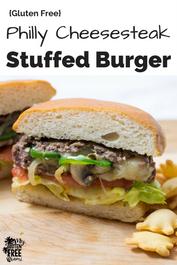Philly Cheesesteak Stuffed Burger (GF)