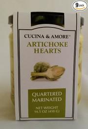 Cucina & Amore Artichoke Qrtr Mrntd - 9 pack