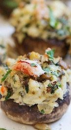 Crab Stuffed Mushrooms - 40 pieces per tray