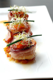 Bacon Wrapped Bay Scallops - 48 pieces per tray