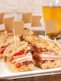 MINI MUFFALETTA SANDWICHES - 45 pieces per tray