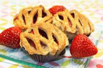 "Fresh Strawberry Pie - One Dozen of 3"" Mini Pies"