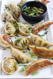 Turmeric Spiced Veggie Potstickers - 35 pieces per tray