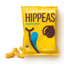 Hippeas Organic Chickpea Puffs, Pepper Power (Pack of 24)