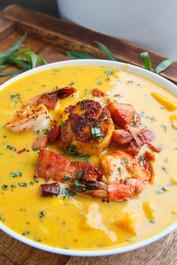 Cajun Sweet Potato Seafood Chowder