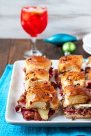 Bacon, Brie and Cranberry Sliders