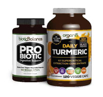 1 BOTTLE OF TURMERIC AND BIOTIC BALANCE