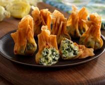 Spinach & Artichoke Beggar's Purses  - 100 pieces per tray
