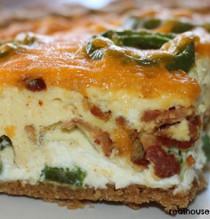 Bacon Jalapeno Popper Quiche