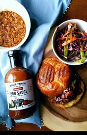 True Made Foods Vegetable BBQ Sauce, Paleo Friendly, Non-GMO, 50% Less Sugar, 6 pack
