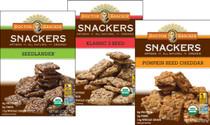 Organic Snackers - 3 Flavor Cracker Variety Bundle - Klassic 3 Seed, Pumpkin Seed Cheddar, and Seedlander (Pack of 3)