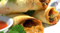 Black Bean and Sharp Cheddar Spring Roll - 50 pieces per tray