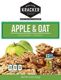 Doctor Kracker Culinary Crisps, Apple & Oat, 5 Oz Pack of 2