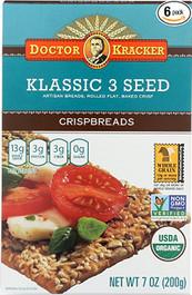 Doctor Kracker Organic Snackers, Seed Trio, 6 Oz (Pack of 6)