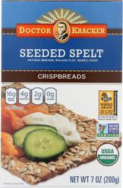 Doctor Kracker Organic Seeded Spelt Crispbread, 7 Ounce -- 6 per case.