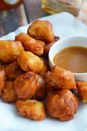 Maple Waffle Dipped Chicken Bites - (Free Recipe below)