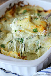 Artichoke and Spinach Ravioli Bake