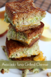 Avocado Tuna Grilled Cheese Sandwich