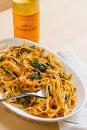 Pasta in Paprika White Wine Sauce