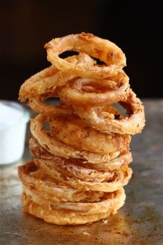 Spicy Buttermilk Vidalia Onion Rings With Buttermilk Ranch