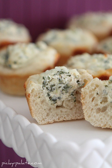 Baked Spinach Dip Mini Bread Bowls