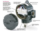 Ashcroft B762V X07 B Series Type 700 Vacuum Pressure Switch, -30in HG to 30 PSI, Viton Seals