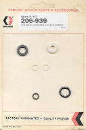 Graco Inc 206-939 Seal Repair Kit for 205-614 Reverse-A-Clean Nozzle