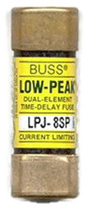 Eaton Cooper Bussmann LPJ-8SP LPJ Class J Dual Element Time Delay Fuse, 8A, 600VAC/300VDC