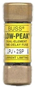 Eaton Cooper Bussmann LPJ-2SP LPJ Class J Dual Element Time Delay Fuse, 2A, 600VAC/300VDC