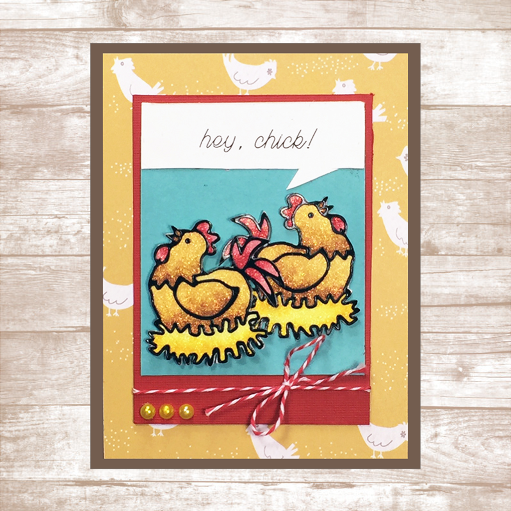 'Hey, Chick!' Card Kit