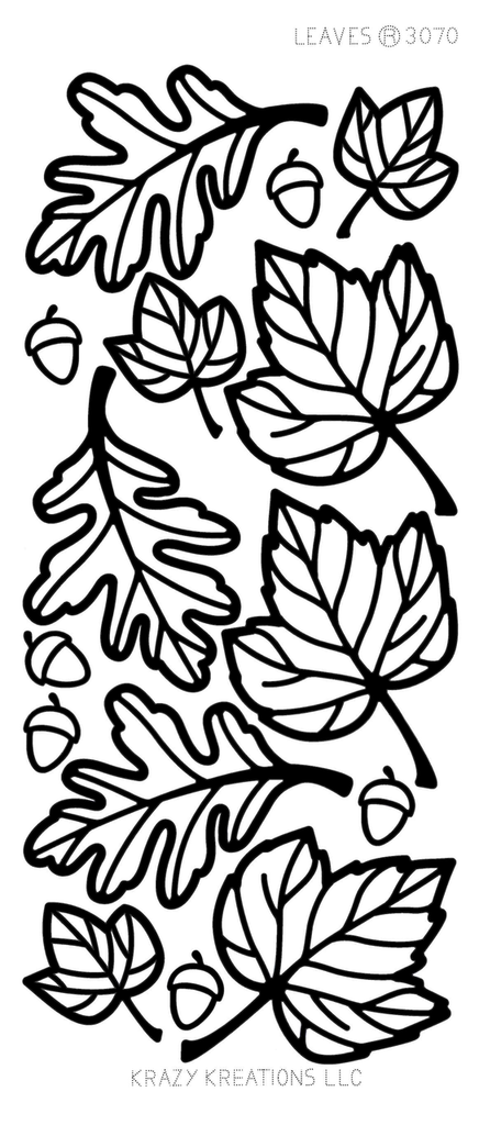 Fall Leaves Outline Sticker