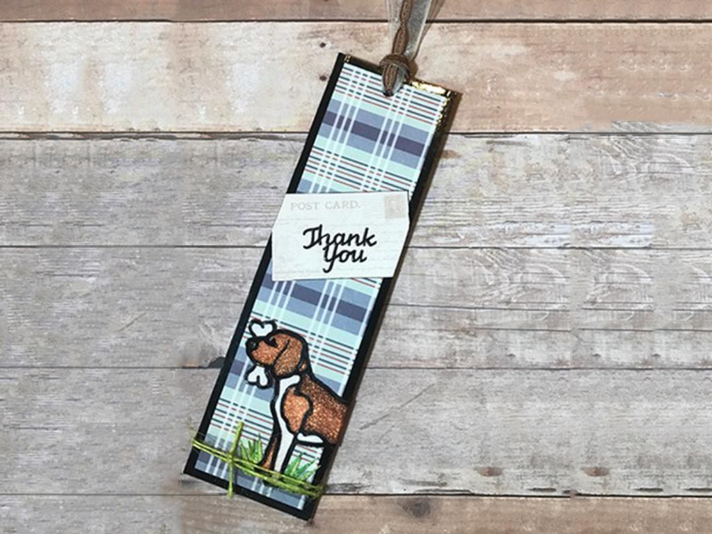 Dog Lover Thank You Bookmark & Gift Card Holder