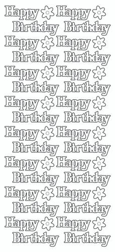 Happy Birthday/Flowers Sticker