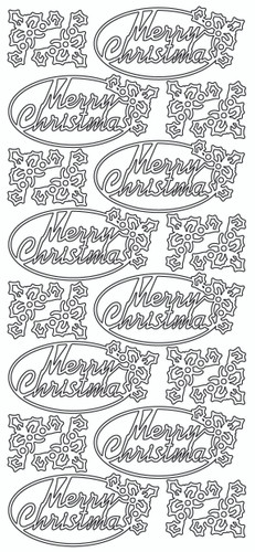 Merry Christmas in Oval Sticker