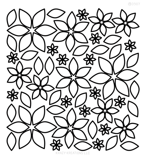 Layered Flowers 1 Outline Sticker