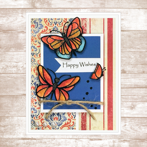 'Happy Wishes'/Butterfly Card Kit