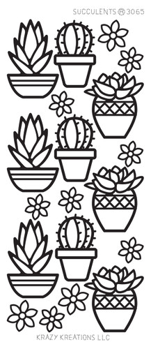 Succulents Outline Sticker