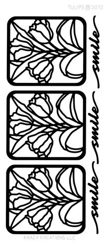 Tulips Outline Sticker