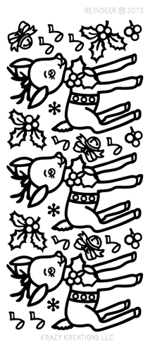 Reindeer Outline Sticker