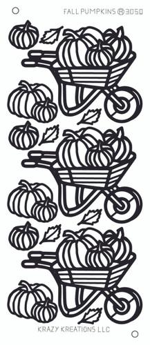 Fall Pumpkins Outline Sticker