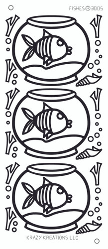 Fishes Outline Sticker